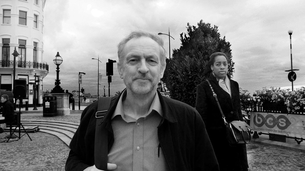 Jeremy Corbyn a few days before the leadership contest in Margate Kent, September 2015