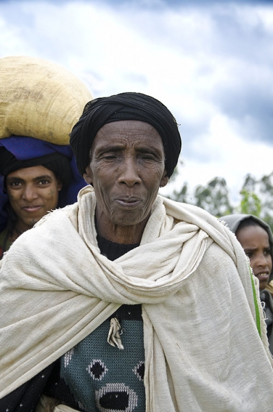 Old woman in Fang, Ethiopia