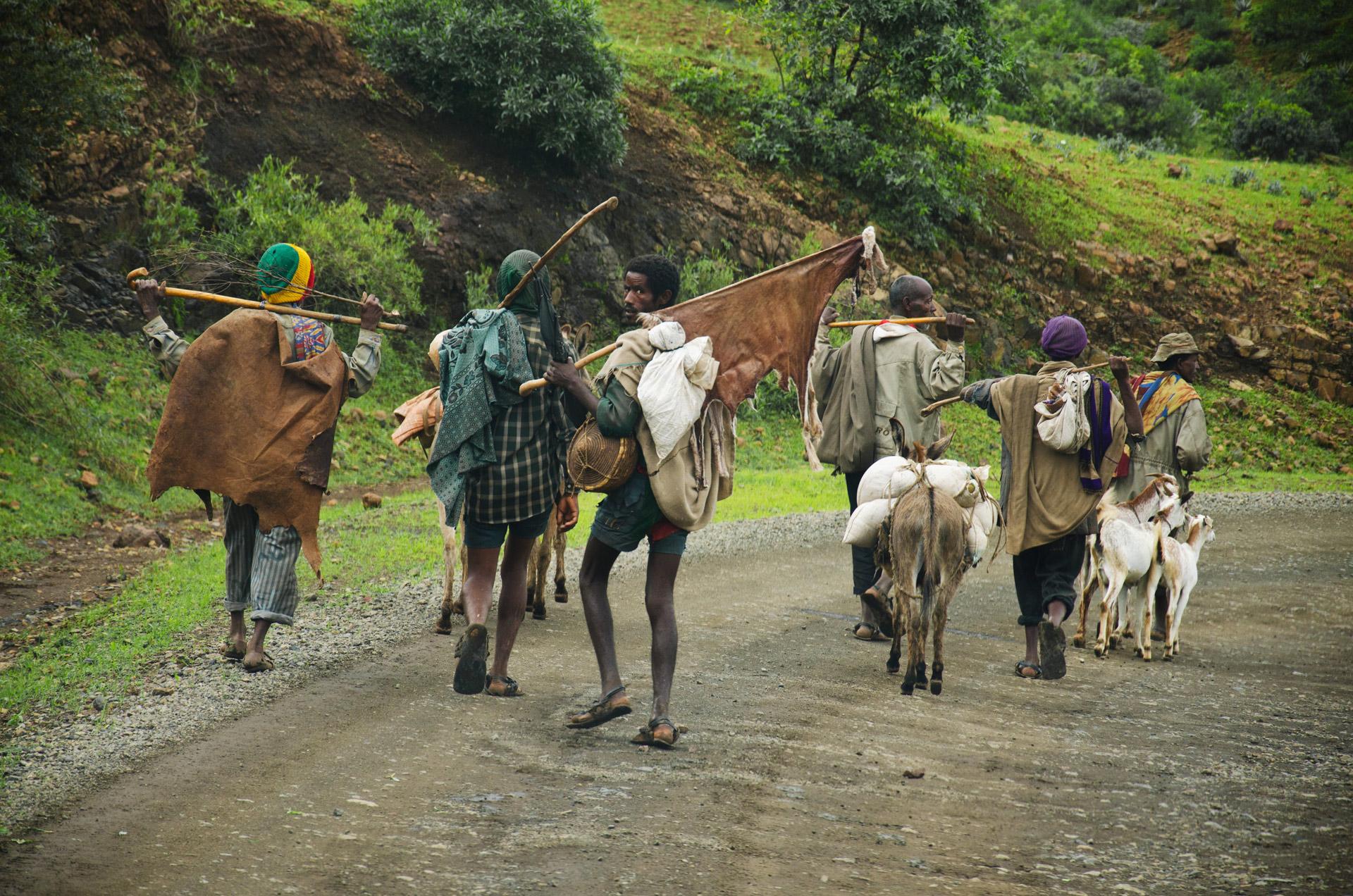 Road scene,Ethiopia
